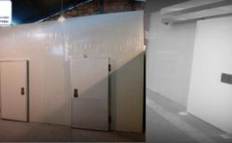 Puertas corredera recubiertas en lámina galvanizada fabricadas en Bogotá