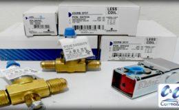 Válvulas solenoides para líneas de liquido, succión, gas caliente