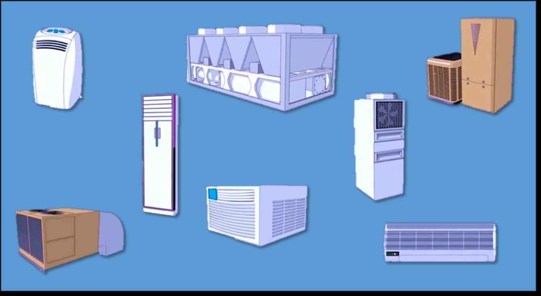 Aires acondicionados: de tipo doméstico (Split, portátil y consola de techo)