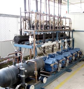 Maquinaria para cuartos fríos y áreas refrigeradas